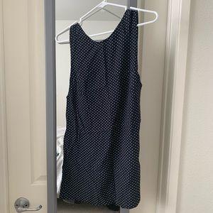 Reformation Sleeveless Polka Dot Mini Dress
